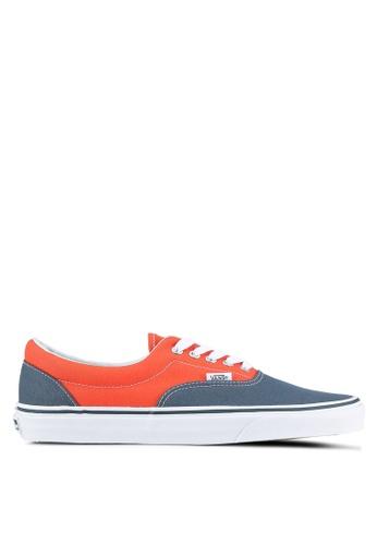 VANS grey and orange Era Canvas Sneakers VA142SH0S6DKMY_1