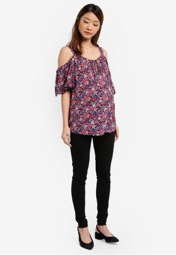 3462158c81dc9f Buy Dorothy Perkins Maternity Tie Cold Shoulder Top Online