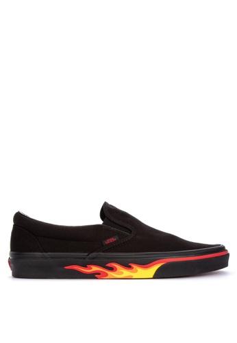 Vans black Classic Slip-On Sneakers 5E1CASH4B65111GS_1
