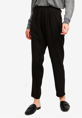 Brave Soul black Solid Colour Trousers 01644AA4B4FF5BGS_1