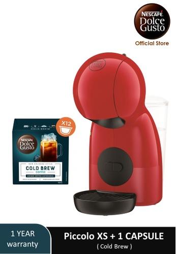 NESCAFE Dolce Gusto red PICCOLO XS Coffee Machine with 1 box of NESCAFE Dolce Gusto Cold Brew capsules 1FDD1ESF492EBEGS_1