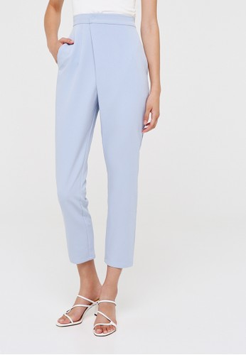 Love, Bonito blue Meisel Crossover High Waist Pants 31583AAA49C9F6GS_1