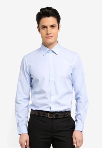 Brooks Brothers blue Red Fleece Nine To Nine Basics Spread Shirt 0839CAA75B8146GS_1
