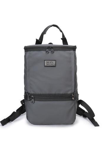 DUSTY grey Twin-Bucket backpack(L) 5163BAC27CA3C6GS_1