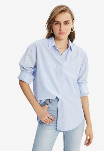 Trendyol blue Loose Fit Shirt CCB86AAF6EEDFFGS_1