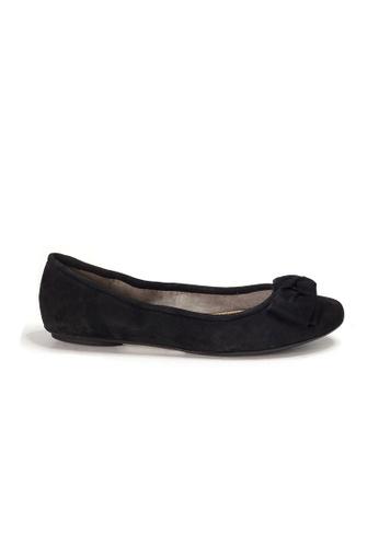 Shu Talk 黑色 AMAZTEP 全新貼腳柔軟蝴蝶結真皮芭蕾舞鞋 53024SH5E197C3GS_1