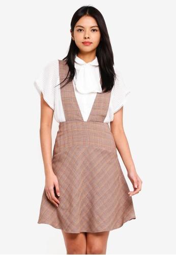 ESPRIT brown Woven Midi Dress 9BD97AA4969A2AGS_1