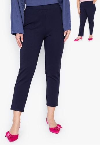 Wear Kris blue Kamille Straight Cut Regular Fit Pants 0087FAA4E6E426GS_1
