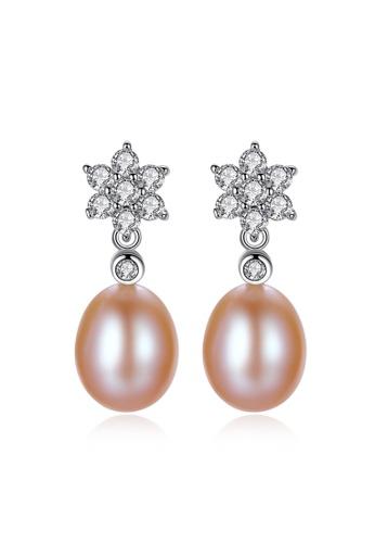 A.Excellence pink Premium Pink Pearl Elegant Earring 9DA59AC5D3FE96GS_1