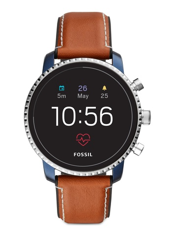 Fossil brown Explorist Smart Watch FTW4016 186B7AC63E6A45GS_1