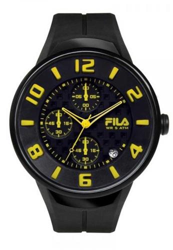 FILA Watches black Fila Yellow and Black Rubber Watch 93C76AC33FD77FGS_1