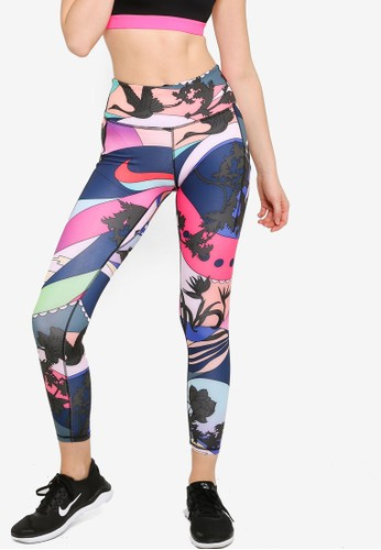 Nike pink Icon Clash Epic Lux Printed Running Tights 9E453AA1C635B5GS_1