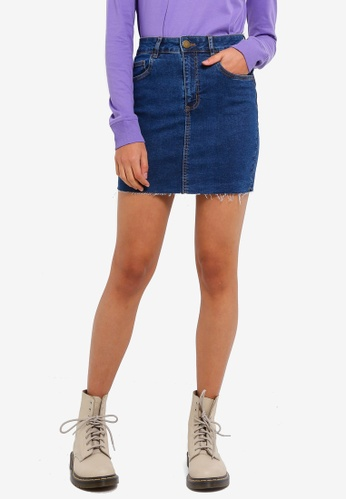 Cotton On blue Classic Stretch Denim Mini Skirt 94445AA4362E21GS_1