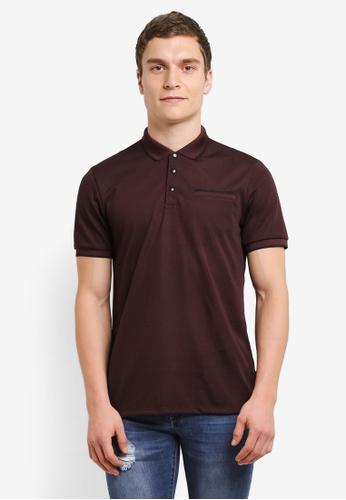 Burton Menswear London purple Purple Feeder Tip Popper Polo Shirt BU964AA0SD2JMY_1