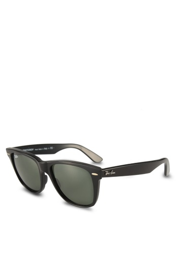 Ray-Ban black Wayfarer RB2140 Sunglasses 37C29GL4FED5F9GS_1