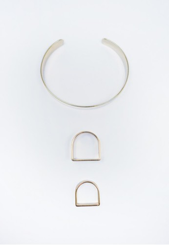 圓角幾何手esprit 童裝環戒指組, 飾品配件, 戒指