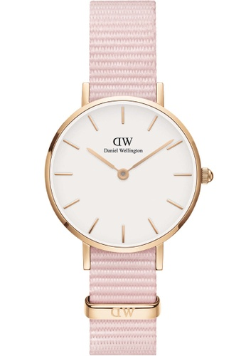 Daniel Wellington pink and gold Petite Rosewater 28mm Rose Gold Watch 67C7AAC32E913EGS_1