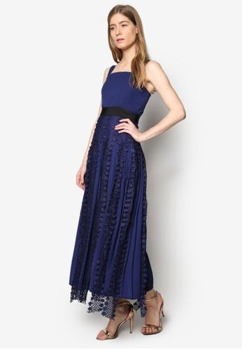 Lesley 蕾絲邊飾長esprit旗艦店洋裝, 服飾, 洋裝