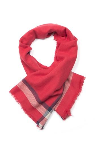 海軍風條紋zalora 心得方巾 - 緋紅/深藍/淺灰, 飾品配件, 披肩