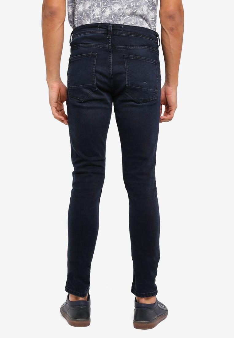 Fit Super Ethan Menswear Burton Skinny Navy Blue Blue Jeans London Overdye qOpSI