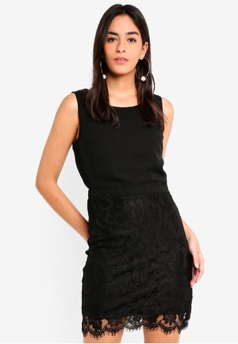 Vero Moda black Evy Short Lace Dress 55055AA0E16574GS_1