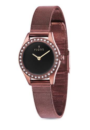 MARINA 金屬網眼水鑽圓錶esprit outlet, 錶類, 飾品配件