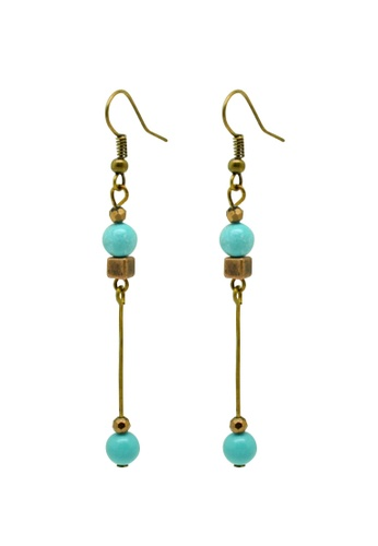 Fur Nyce green Turquoise Bead Drop Earrings FU779AC06QZHMY_1