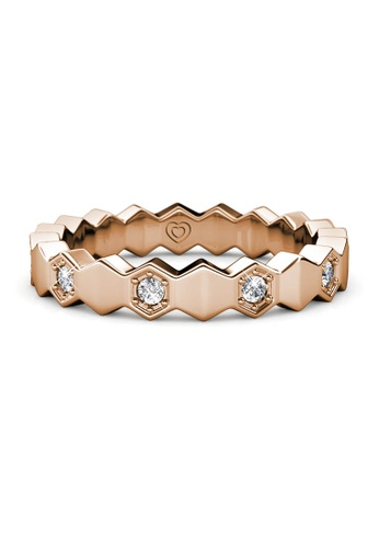 Her Jewellery gold Ivan Ring (Rose Gold) - Made with premium grade crystals from Austria 6F9C9AC2E597DBGS_1