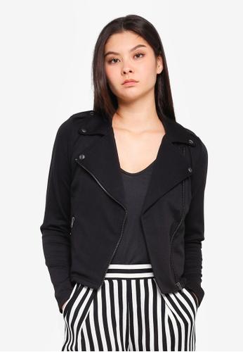 ICHI black Kate Biker Jacket 6C5ECAAA55AACBGS_1
