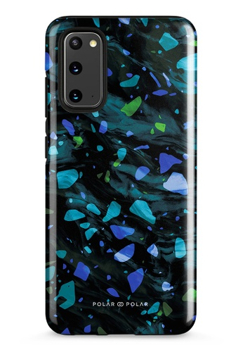 Polar Polar blue Ocean Terrazzo Gem Dual-Layer Tough Case Glossy For Samsung Galaxy S20 5G 30BDAAC69C1F66GS_1