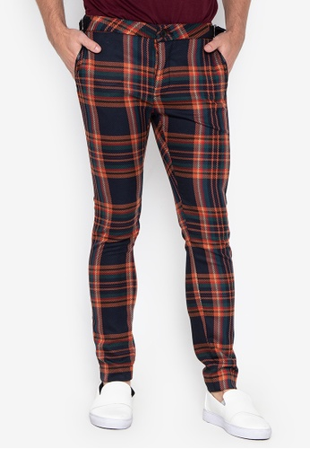 Stretch And Trousers Skinny Orange Navy Topman Check Online On Shop cL3ARqj54