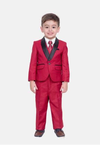 LASSIE & LADDIE red Hugo Complete 5 Piece Tux Suit C51CBKA2B770D3GS_1