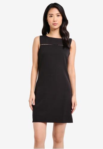 ZALORA black Front Trim Pencil Dress 5E242AA6EFBE86GS_1