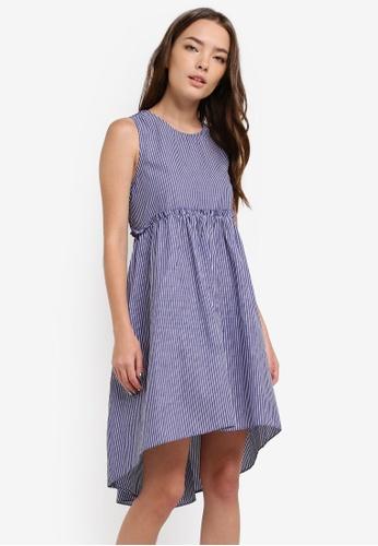 Something Borrowed blue Button Detail Sleeveless Babydoll Dress 64A9EAAFDB67F4GS_1