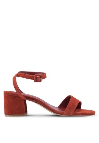 Violeta by MANGO orange Leather Straps Mono-tone Heels 83839SHFA88AE5GS_1