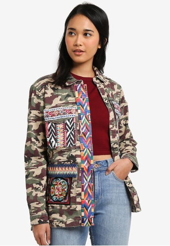 ONLY green Audrey Camouflage Embroidery Jacket 0EDC4AA00AE0A0GS_1