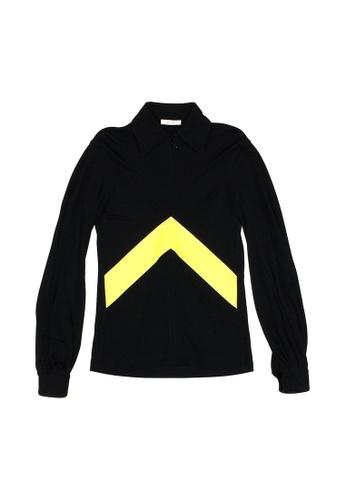Celine black Celine Half Zip Collar Sweatshirt in Black 44643AA19D1D59GS_1