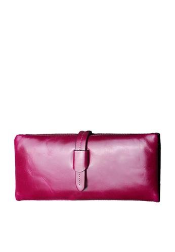 Twenty Eight Shoes purple VANSA  Burnished Cowhide Bi-Fold Long Wallet VBU-Wt2148 9FE49AC30016A6GS_1