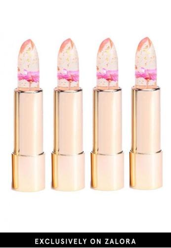 Kailijumei red Kailijumei Lipstick- Flame Red 4pcs Set KA452BE25QNEMY_1