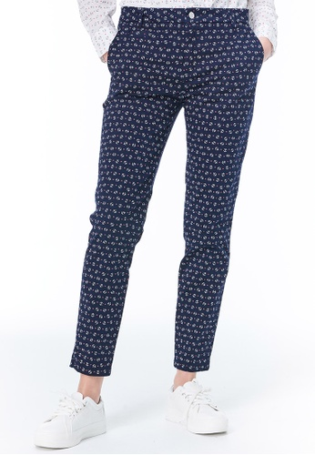United Colors of Benetton blue Printed Pants 650A0AABDC0F10GS_1