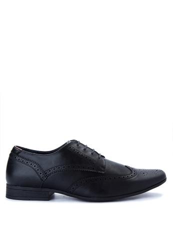 Burton Menswear London black Black Formal Brogue Shoes BU102SH0ITFWPH_1