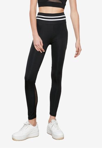 Trendyol black Mesh Detailed Sports Leggings C609AAA95E3975GS_1
