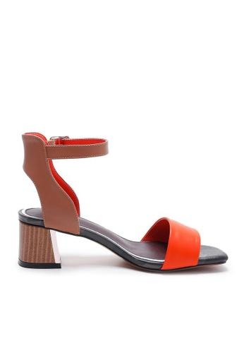 Sunnydaysweety orange Big Sale Item - 2017 Korean Simple Eye-catching Orange Leather High Heels UA042518 6B10FSHA284466GS_1