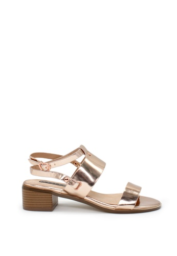 London Rag gold Rose Gold Flat Quarter Strap Sandals E5F5FSH7BEC44BGS_1