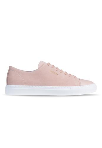Axel Arigato Cap-toe Sneaker 粉紅色麂皮搭配皮製鞋頭 4B720SH626B51DGS_1