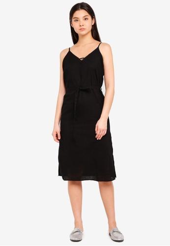 Cotton On black Woven Marce Midi Slip Dress 26A79AAF8B9E6FGS_1
