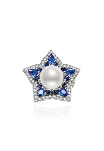 Pearly Lustre silver Pearly Lustre Elegant Garden by the Bay  Freshwater Pearl Brooch WC00008 59507ACED5DCF6GS_1