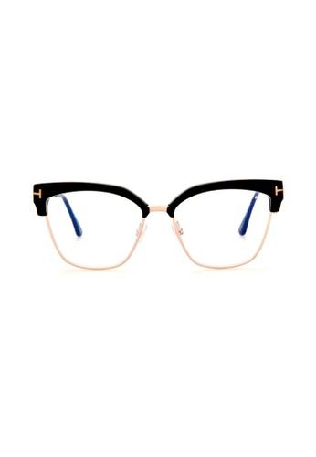 7ead13e9aa2 Tom Ford black and gold TOM FORD FT5547-B 001 Eyeglasses B0F42GL265C544GS 1