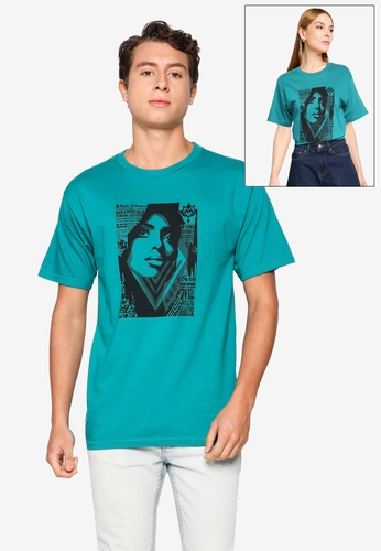 OBEY green Bias By Numbers Tee 7CB20AA33CCC56GS_1