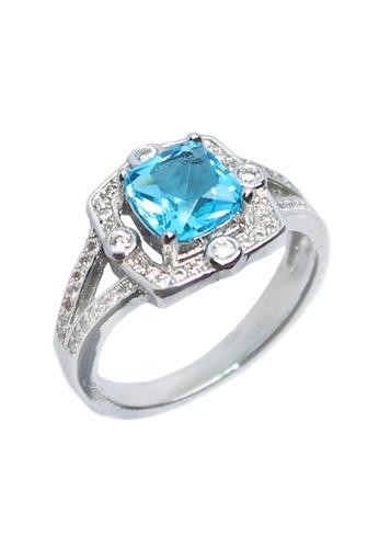 Elfi blue and silver Elfi Silver Blue Sapphire Ring R11 Silver EL186AC0RR6MMY_1